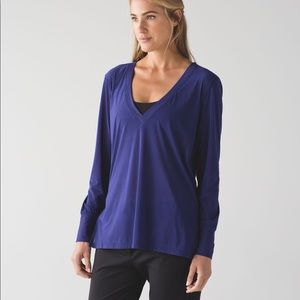 Lululemon Get Low Long Sleeve Emperor Blue